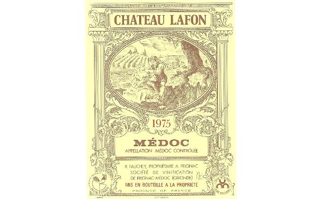 Château Lafon étiquette de vin fauchey roger L'Inclassable
