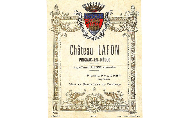 Château Lafon étiquette fauchey pierre de vin L'Inclassable