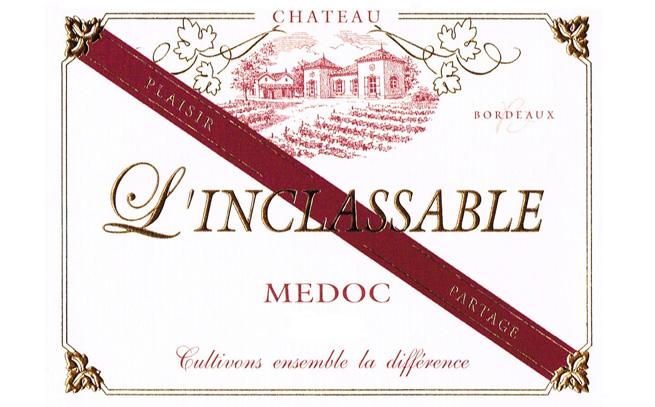 étiquette du vin Château L'Inclassable