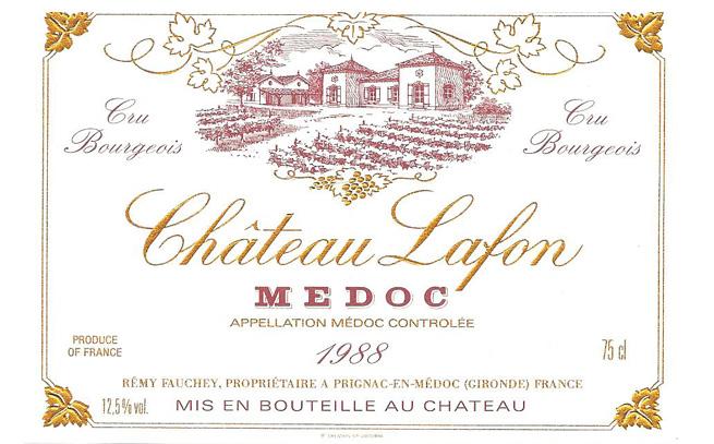 étiquette du vin Château Lafon L'Inclassable